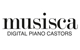 Musisca Digital Piano Castors