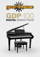 GDP-100 Digital Piano with Stool by Gear4music