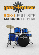 BDK-1 Full Size Starter Kit by Gear4music, Blue
