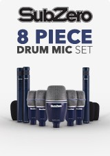 SubZero SZD-8000 Drum Mic Set, 8 ks