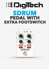 DigiTech SDRUM Strummable bicie pedál w / FS3X Footswitch