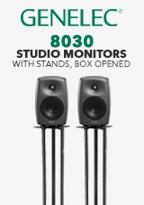 Genelec 8030 Studio Monitors with Stands, Box Opened
